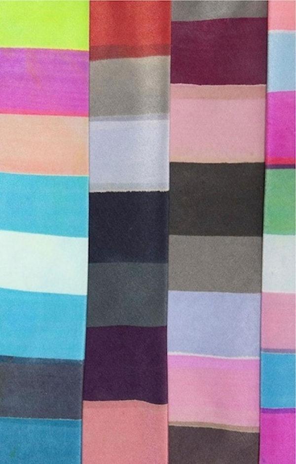Silk painted ties