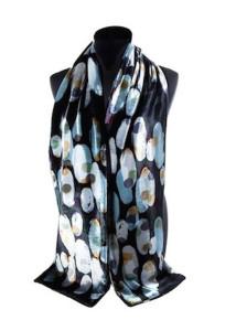Silk velvet scarf