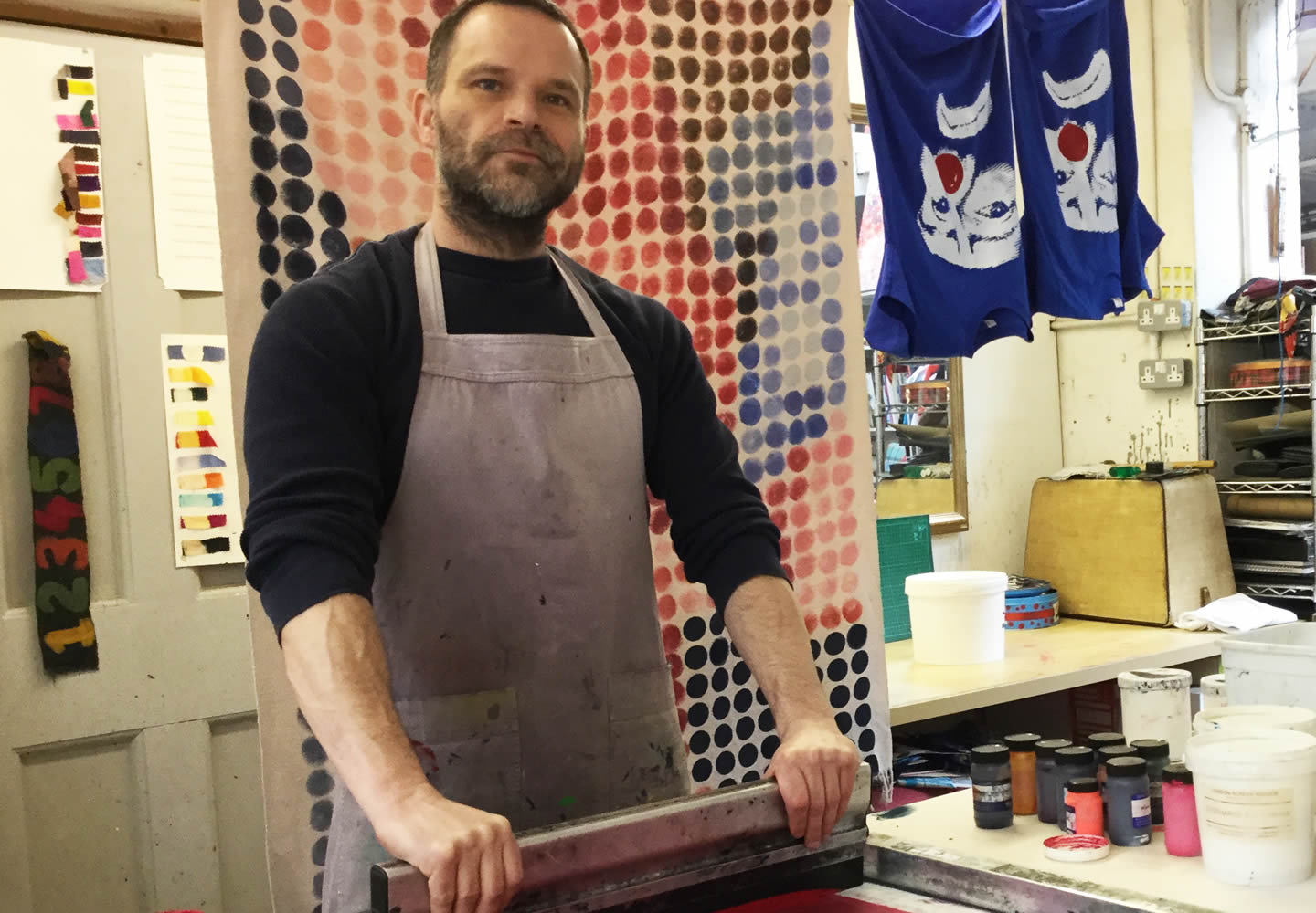 Brian Merry - screen printing